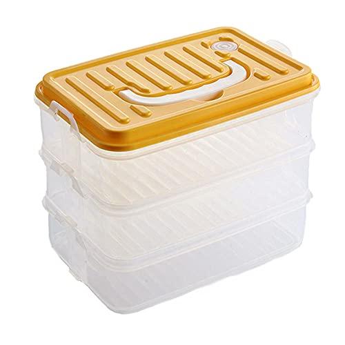 Recipientes, Recipientes Para Alimentos con Tapa, Paquete de 3 Contenedores de Almacenamiento de Contenedores de PP con Tapas, Reutilizables, sin Bpa, Portátiles Para Microondas