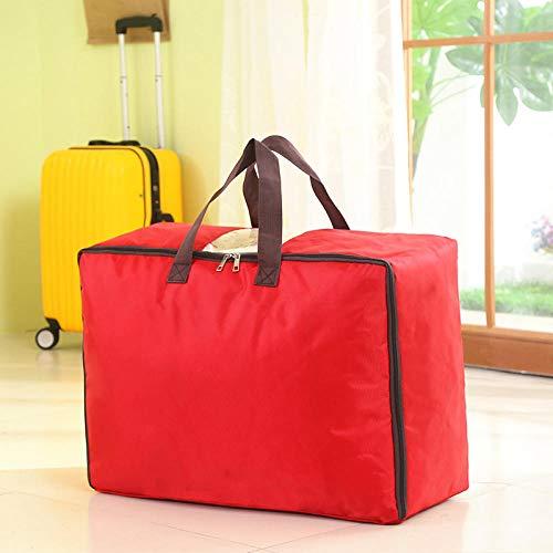Generic Sac de Rangement pour Sac de Voyage, Sac de Voyage Transparent, Sac d'emballage Sac de Rangement pour vêtements résistant à l'humidité, Rouge