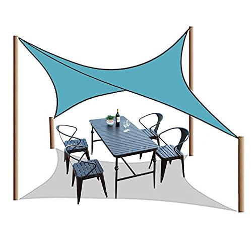 HRD 2X3m 2X5m Toldo Vela de Sombra Rectangular Balcón Pérgola Piscina Jardín Toldo Vela con Cuerda Gratuita Impermeable Solar Protección Azul Beige