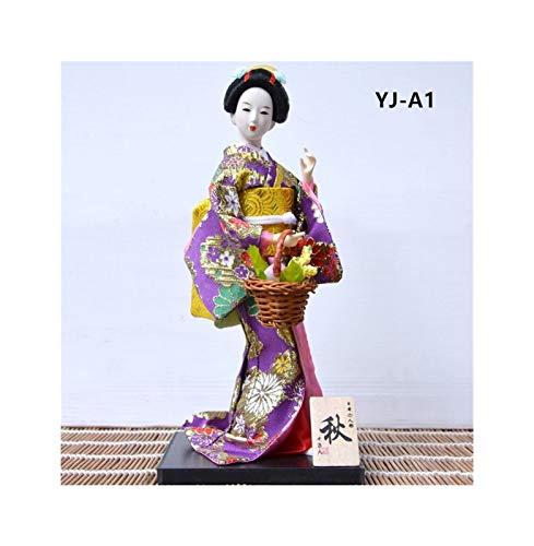 30 Cm Leuke Japanse Geisha En Kleding Pop Japanse Behuizing Decoratie Klein Standbeeld Thuis Kamer Decoratie Accessoires Modern (Color : YJ A1, Size : Medium)