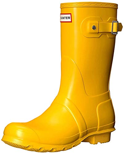 HUNTER Damen Original Short Wellington Boots Gummistiefel, Gelb (Yellow), 39 EU