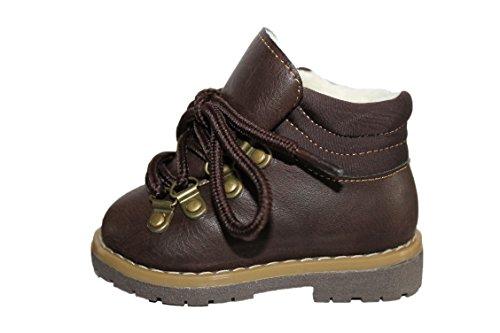 rock and joy-Chaussures Boots fourrées-Marron-garçon (23)