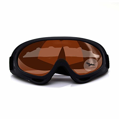 Freehawk Adjustable UV Protective Outdoor Glasses Motorcycle Goggles Dust-proof Protective Combat Goggles Military Sunglasses Outdoor Tactical Goggles to Prevent Particulates in Orange