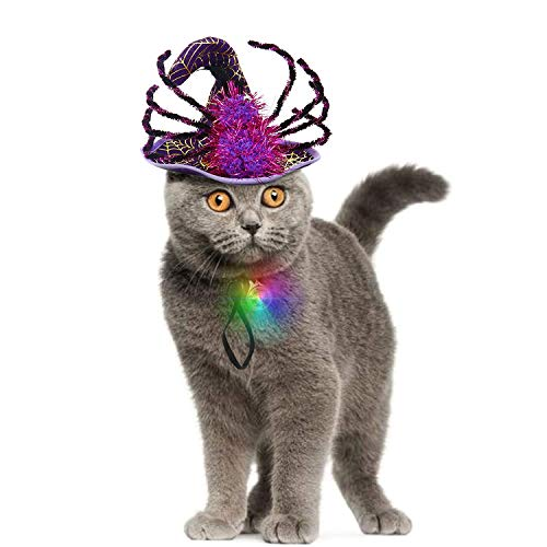 IPOW Cat Dog Halloween Costumes Hats Pet Costumes for Small Dogs Super Funny Cute Cat Dog Spider Cos - http://coolthings.us