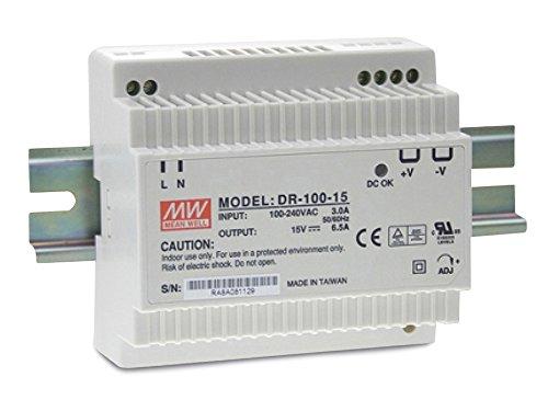 Hutschienen Netzteil 90W 12V 7,5A ; MeanWell, DR-100-12 ; Hutschienennetzteil