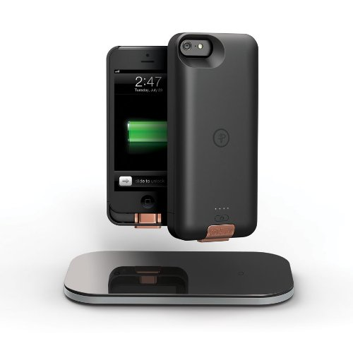 Duracell Powermat PowerSet II Kit for iPhone 5 with Access Case, Snap Battery and Powermat - Retail Packaging - Black