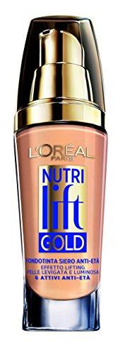 L'Oréal Paris Nutri Lift Gold Fondotinta Siero AntiEtà, 310 Rose Honey