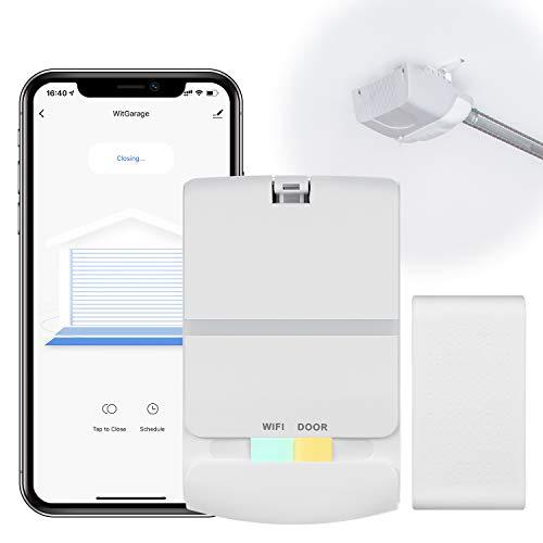 Newoke Smart WiFi Garage Door Opener Remote, Garage Door Opener Wireless, Smart Phone App Control, Work with Alexa, Google Assistant, Smart Life, No Hub Needed