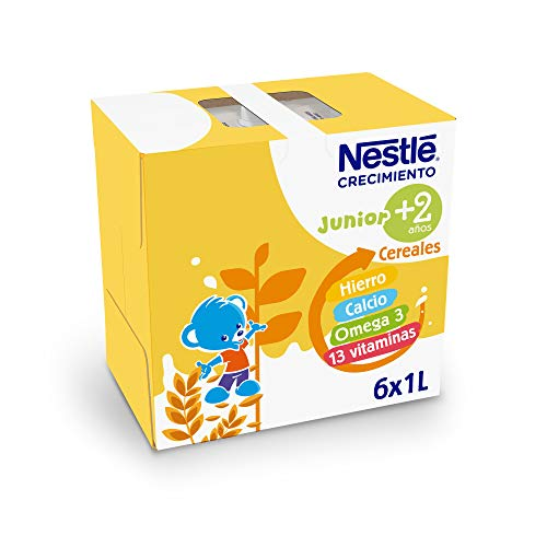 NESTLÉ JUNIOR 2+ Original - Leche para niños a partir de 2 años - 6x1L