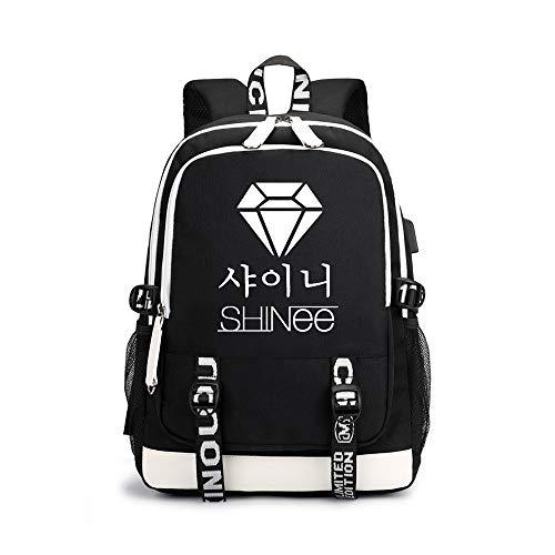 Shinee Rucksäcke Hochwertiger Stoff Leichter Sportrucksack Hochwertiger Casual Rucksack Shinee Backpacks (Color : Black03, Size : 30 X 15 X 43cm)