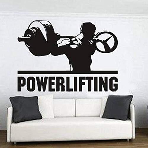 Levantamiento de pesas tatuajes de pared dormitorio decoración del hogar ejercicio gimnasio vinilo pegatinas de pared ejercicio físico culturismo arte mural