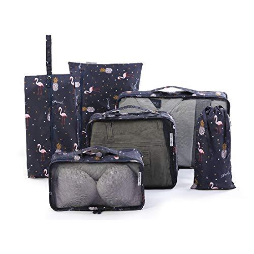 Tuscall Kleidertaschen Set, Packtaschen für Koffer 6-teiliges Ultra-leichte Koffer Organizer Set für Reise, Seesäcke, Handgepäck und Rucksäcke (Neue Edition)