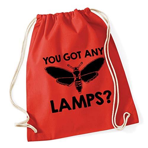 Hippowarehouse You Got Any Lamps? Moth Drawstring Cotton School Gym Bag 37cm x 46cm, 12 litres