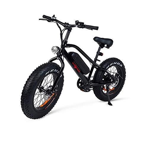 ECOXTREM Bicicleta electrica Monster 7 velocidades 350w Color Negra Pedales montaña Ruedas Anchas