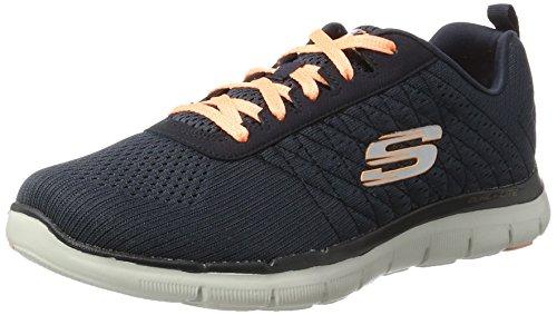 Skechers Flex Appeal 2.0-Break Free, Damen Outdoor Fitnessschuhe, Grau (char), 39 EU(Herstellergröße: 6 UK)