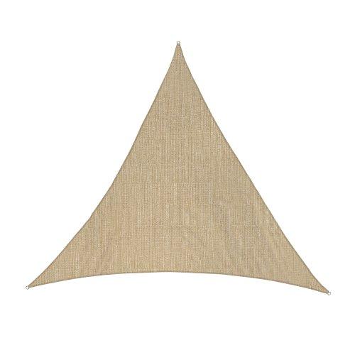 jarolift Sonnensegel Dreieck Gleichseitig Atmungsaktiv Sonnenschutz Sichtschutz für Balkon Terrasse Garten HDPE-Gewebe, 360 x 360 x 360 cm, Sand