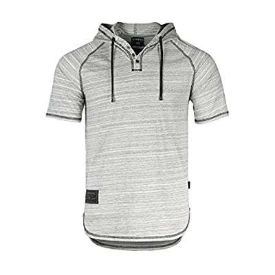 Men's Short Sleeve Casual Fashion Hip Hop Hooded Henley Shirt