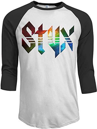 JeremiahR Styx Men's 3/4 Sleeve Raglan Baseball T-shirts Black