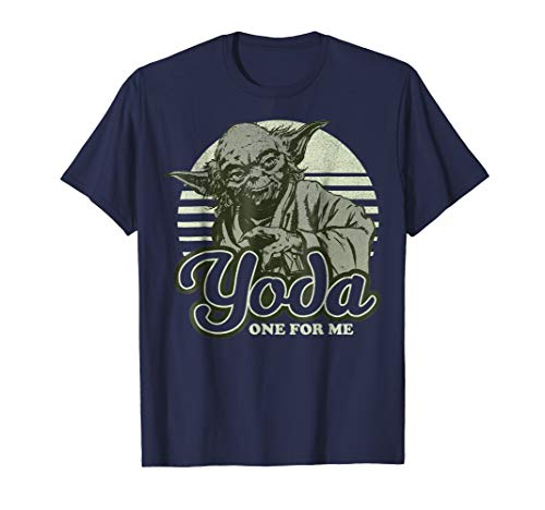 Star Wars Yoda One For Me Retro Graphic T-Shirt
