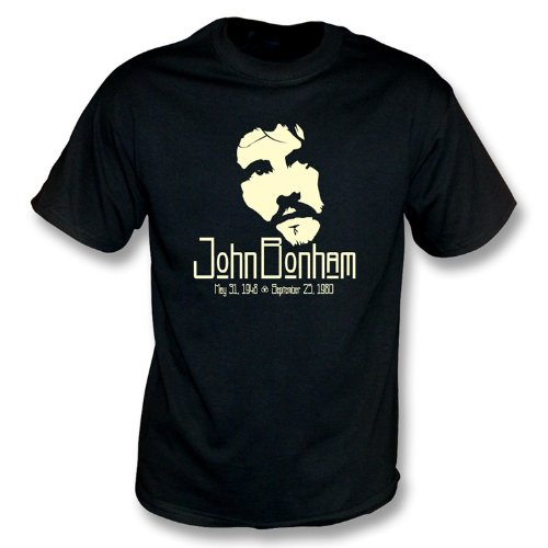 TshirtGrill John Bonham di Tributo di t Shirt Medium, Colore Nero