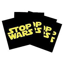 20 x Stop Wars Aufkleber 5,2 x 5,2 cm, von StigmaSticker