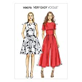 VOGUE PATTERNS V9075A5 - Patrones de Costura para Vestidos y Vestidos con pantalón para Mujer (Tallas 34 a 42)