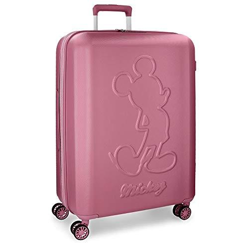 Maleta grande Mickey Premium rígida 68cm rosa