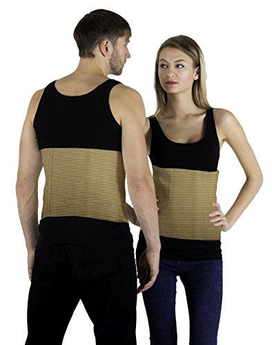 INFINITUM MEDICAL Rückenwärmer Angora & Merino Wolle für Damen und Herren - Wärmegürtel für Rücken - Nierenwärmer Hüftwärmer Leibwärmer - Hält beim Sport den Rücken Warm und Dient als Nierenschutz (S)