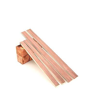 Reines Kupferblech Cu Metallplatte T2 Kupfer Flache Stangenplatte L/änge 500 mm 19,7 Zoll SHULI 2 STK Dicke 6 mm Breite,100mm