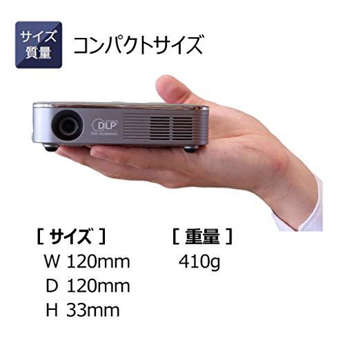 CanonモバイルプロジェクターC-13W(130lm/スピーカー内蔵/Wi-Fi対応)アウトドアに便利