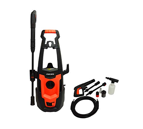 Mecano Smart1500 Universal Motor 1500 W 120bar 6.5L/Min Flow High Pressure Washer for Cars/Bikes & Home Cleaning Purpose (Black & Orange)