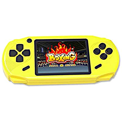 Beijue 16 Bit Handheld Games for Kids Adults 3.0'' Large Screen Preloaded 100 HD Classic Retro Video Games no Need WiFi USB Rechargeable Seniors Electronic Game Player Birthday Xmas Present (Yellow)
