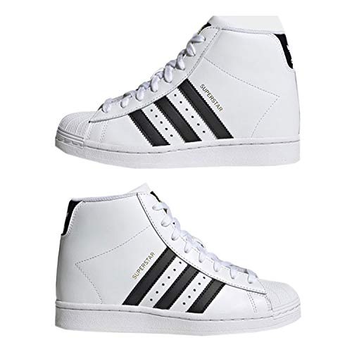 adidas Superstar UP W, Scarpe da Ginnastica Donna, Ftwr White/Core Black/Gold Met, 38 EU