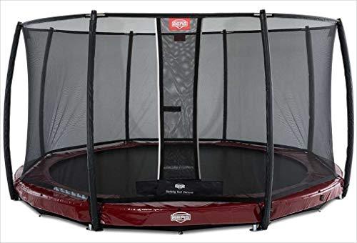 BERG Trampoline Inground Elite round 430 met veiligheidsbehuizing Net Deluxe | Premium trampoline, kindertrampoline, levenslange garantie, spring hoger met TwinSpring en Airflow