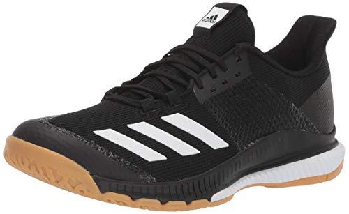 adidas Women's Crazyflight Bounce 3 Volleyball Shoe, Black/White/Gum, 7.5 M US