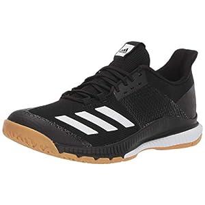adidas Women's Crazyflight Bounce 3 Volleyball Shoe, Black/White/Gum, 7 M US