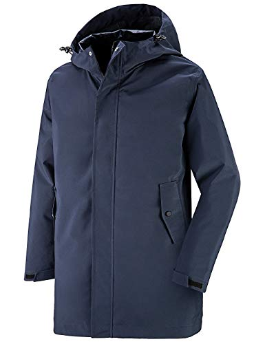 Wantdo Men's Watertight Raincoat Lightweight Outdoor Rain Jacket Navy Blue M