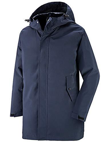 Wantdo Men's Waterproof Rain Jacket Light Hooded Windbreaker Coat Navy Blue L