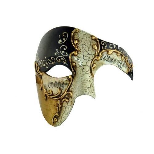 Black Phantom men Masquerade Mask Costume Prom Party Simple Mask