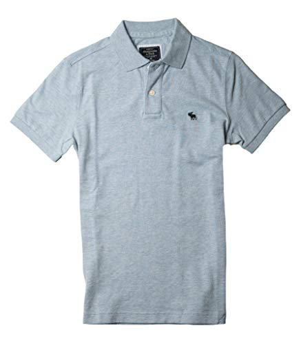 Abercrombie & Fitch Mens Polo Shirt T Shirt (Light Blue 0901-210, S)
