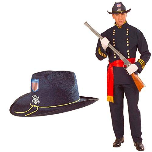 Yankee Hut Nordstaaten General Filzhut Western Offizier Kopfbedeckung Fasching US Soldat Karnevalshut Nordstaatler USA Armee Faschingshut Uniform Mottoparty Accessoire Karneval Kostüm Zubehör