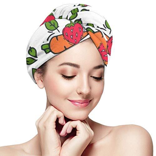 QHMY Quick Magic Dryer, Carbon n Style of Bio Organic Fiber Shower Dry Hair Hat, Wrapped Bath Cap