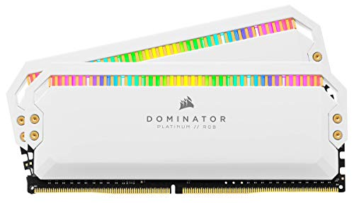 CORSAIR DOMINATOR PLATINUM RGB kit memoria da 32GB (2x16GB) DDR4 4000 (PC4-32000) C19 1.35V - Bianco