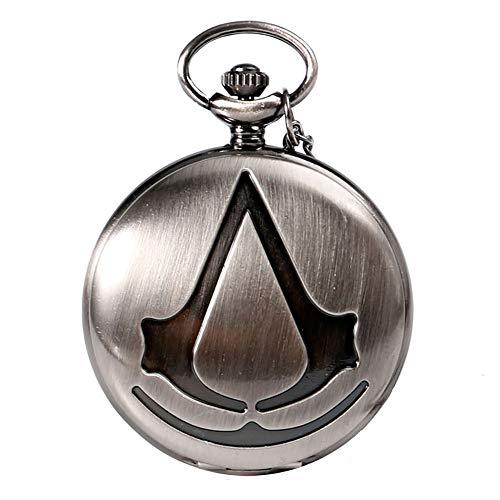 Assassin's Creed Steampunk Taschenuhr Assassin's Movie Analog Quarz Taschenuhr für Herren Halskette Taschenuhr Geschenk