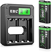 EBL Controller Rechargeable Battery Packs Compatible for Xbox One/Xbox Series X S, 2×2800mAh Xbox One Controller Battery Packs for Xbox One/One S/One X/One Elite
