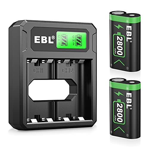 EBL Controller Rechargeable Battery Packs Compatible for Xbox One/Xbox Series X|S, 2×2800mAh Xbox One Controller Battery Packs for Xbox One/One S/One X/One Elite