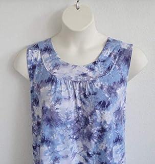 S-3X Shoulder Shirts Post Surgery Shirt - Shoulder ~ Breast Cancer ~ Mastectomy/Hospice/Stroke/Adaptive Clothing/Breastfeeding - Style Sara (Blue Tie Dye)