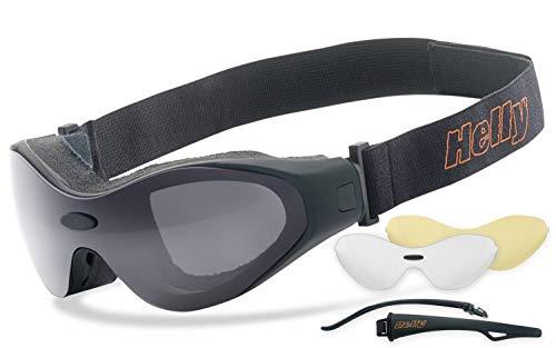 Helly® - No.1 Bikereyes® | beschlagfrei, winddicht, nachtsicht HLT® Kunststoff-Sicherheitsglas nach DIN EN 166 | Motorradbrille, Bikerbrille, Sportbrille, Nachtbrille |