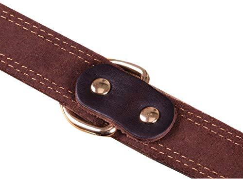Premium-Hundehalsband aus Leder, mit graviertem Namensschild, personalisierbar, weiche Haptik, strapazierfähiges Echtleder, verstellbar, perfekt für kleine, mittelgroße, große Hunde - 4