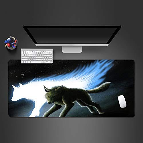 Snow Wolf Animal Mauspad Lock Side Anti-Rutsch-Mauspad Tastatur Computer Mauspad Hochwertige Laptop Large Mause Pad-in Mauspad von Computer und Office 700x300x2